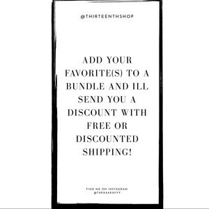 Want discounted or free shipping?!